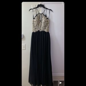Black & Gold Formal Dress